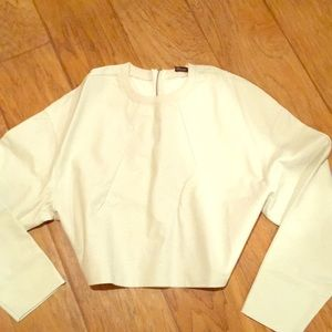 White leather type top